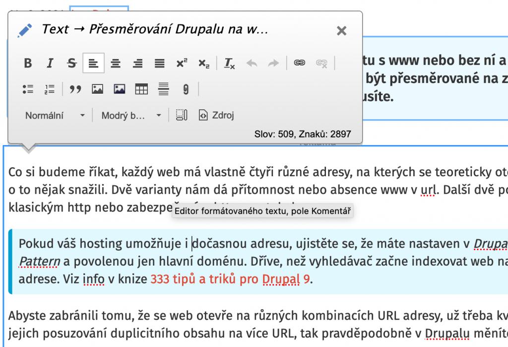 Drupal Quick Edit